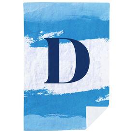 Personalized Premium Blanket - Watercolor Initial
