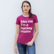 Hockey Women's Everyday Tee - Kiss Me I'm a Hockey Mom