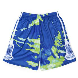Spiral Tie-Dye Green Lacrosse Shorts