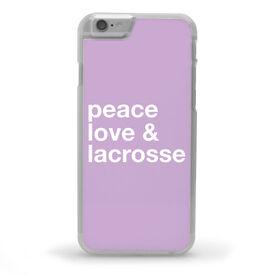 Girls Lacrosse iPhone® Case - Peace Love & Lacrosse