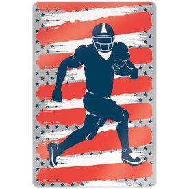 "Football 18"" X 12"" Aluminum Room Sign - USA Football"