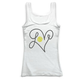 Tennis Vintage Fitted Tank Top - Love