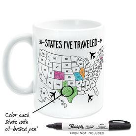 Coffee Mug - States I've Traveled Outline