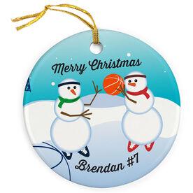 Basketball Porcelain Ornament Snowmen Challenge