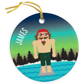 Swimming Porcelain Ornament Nutcracker