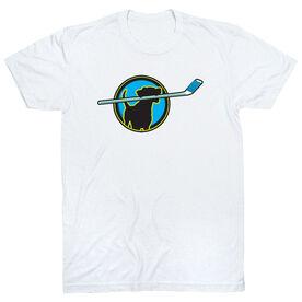 Hockey Tshirt Short Sleeve Hockey Dog