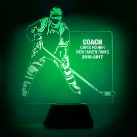 Hockey Acrylic LED Lamp Player Coach With 3 Lines