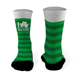 Wrestling Mid Calf Printed Socks I Shamrock Wrestling