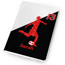 Soccer Notebook - Personalized Soccer Player Girl Silhouette