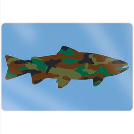 "Fly Fishing 18"" X 12"" Aluminum Room Sign - Camo Fish"