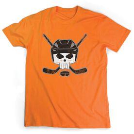 Hockey Short Sleeve Tee - Hockey Helmet Skull