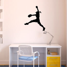 Softball Pitcher Windup Removable ChalkTalkGraphix Wall Decal