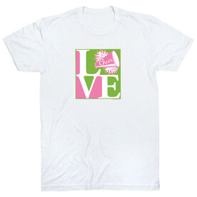 Cheerleading Tshirt Short Sleeve Love Cheerleading