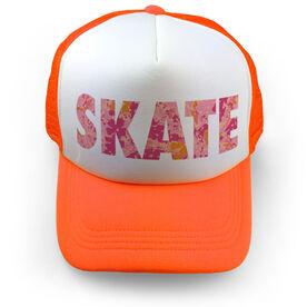 Figure Skating Trucker Hat - Floral Skate