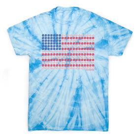 Baseball Short Sleeve T-Shirt - Patriotic Baseball Tie Dye