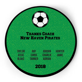 Soccer Circle Plaque - Team Roster