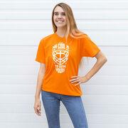 Hockey Short Sleeve T-Shirt - My Goal is to Deny Yours Goalie Mask