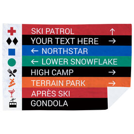 Skiing & Snowboarding Premium Blanket - Closeup Sign