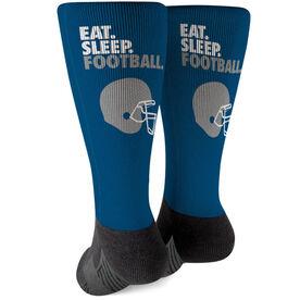 Football Printed Mid-Calf Socks - Eat Sleep Football