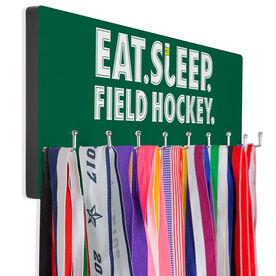Field Hockey Hooked on Medals Hanger - Eat Sleep Field Hockey