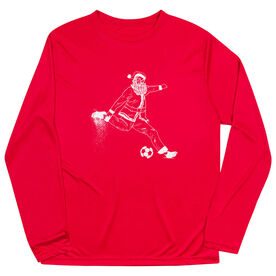 Soccer Long Sleeve Performance Tee - Santa Player