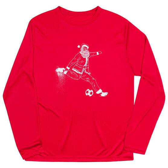 Soccer Long Sleeve Performance Tee - Santa Player