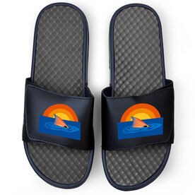Fly Fishing Navy Slide Sandals - Redfish Finning