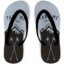 Skiing Flip Flops - Take Me To The Mountains