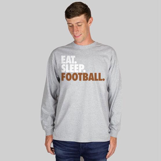 Football T-Shirt Long Sleeve Eat. Sleep. Football.