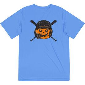 Baseball Short Sleeve Performance Tee - Helmet Pumpkin