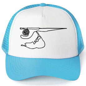 Fly Fishing Trucker Hat - Nantucket Fishing