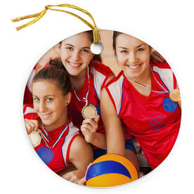 Volleyball Porcelain Ornament Custom Volleyball Photo