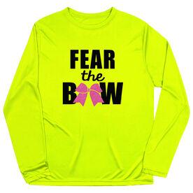 Cheerleading Long Sleeve Performance Tee - Fear the Bow