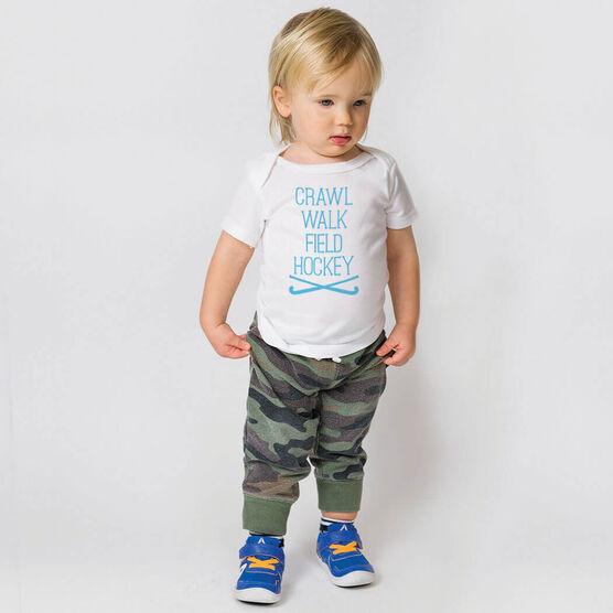 Field Hockey Baby T-Shirt - Crawl Walk Field Hockey