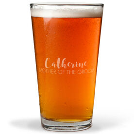 Personalized 16 oz. Beer Pint Glass - The Stylish Mother Of The Groom