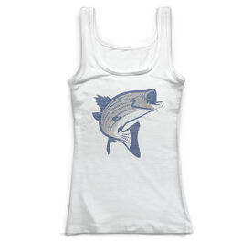 Fly Fishing Vintage Fitted Tank Top - Striper