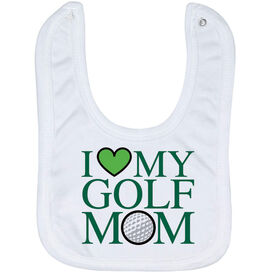 Golf Baby Bib - I Love My Golf Mom