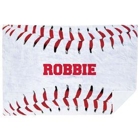 Baseball Premium Blanket - Personalized Stitches