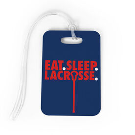Guys Lacrosse Bag/Luggage Tag - Eat Sleep Lacrosse
