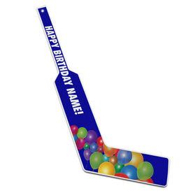 Personalized Knee Hockey Goalie Stick Happy Birthday Balloons