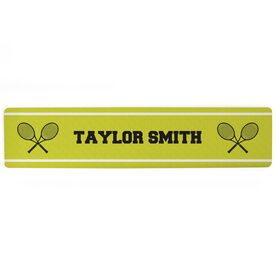 "Tennis Aluminum Room Sign - Your Name Tennis (4""x18"")"