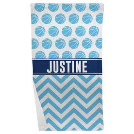Basketball Beach Towel Personalized Pattern