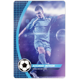 """Soccer 18"""" X 12"""" Aluminum Room Sign - Player Photo"""