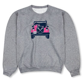 Girls Lacrosse Crew Neck Sweatshirt - Lax Cruiser
