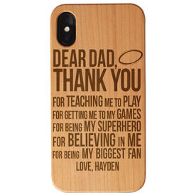 Rugby Engraved Wood IPhone® Case - Dear Dad