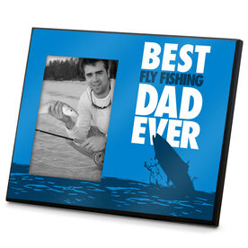 Fly Fishing Wood Frame Best Dad Ever