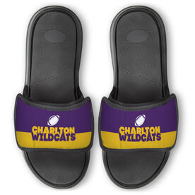 Football Repwell™ Slide Sandals - Team Name Colorblock