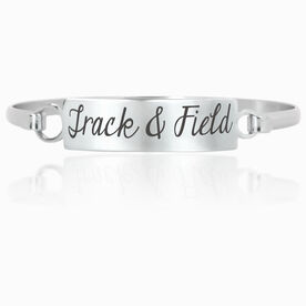 Track and Field Engraved Clasp Bracelet Track and Field
