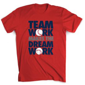 Baseball Tshirt Short Sleeve Team Work Dream Work