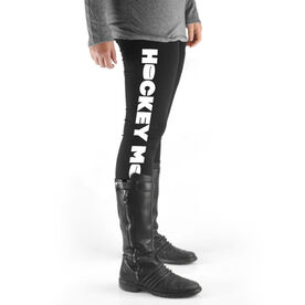 Hockey High Print Leggings - Hockey Mom